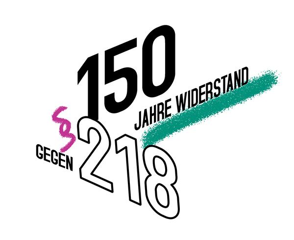 Logo der Kampagne zu 150 Jahre Widerstand gegen den Abtreibungsparagraf