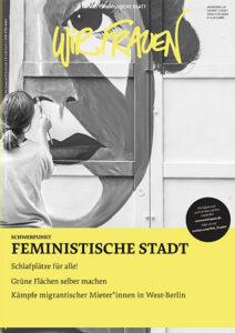 """Cover der Wir Frauen Ausgabe """"Feministische Stadt"""""""